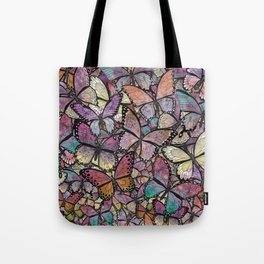 butterflies aflutter rosy pastels version Tote Bag
