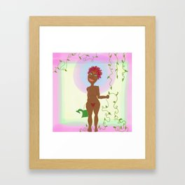 Grateful Lady Framed Art Print