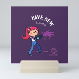 Have new experiences Mini Art Print