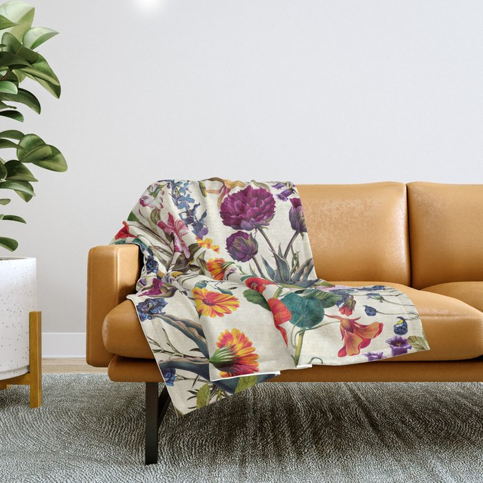 Magical Garden V Throw Blanket