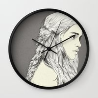 thrones Wall Clocks featuring D T by CranioDsgn