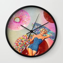 Foods Before Dudes Wall Clock