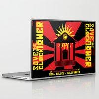 propaganda Laptop & iPad Skins featuring Clocktower Propaganda by DGN Graphix