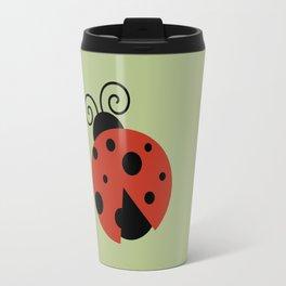 Ladybug (Ladybird, Lady Beetle) with Dots - Red Travel Mug