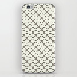 Leather pattern. Dumbbells iPhone Skin