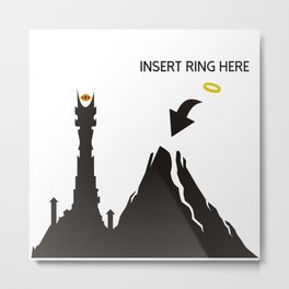 Lord of the Ring Intructions Metal Print