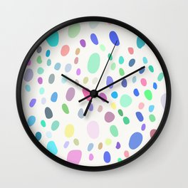 Abstract Colorful Random Dots Wall Clock