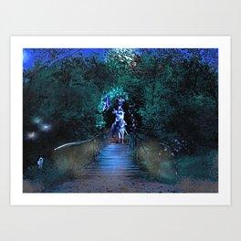 Entering Sherwood Forest Art Print