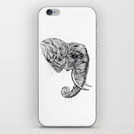 Elephant art iPhone Skin