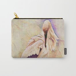Heron Pinked Carry-All Pouch