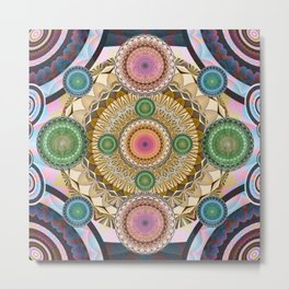 Psychedelic all up in yo' Grill Metal Print
