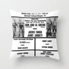 #14 Memphis Wrestling Window Card Throw Pillow