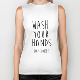 Wash Your Hands Bathroom Print Bathroom Decor Nursery Print Nursery Quote So Fresh And So Clean Biker Tank
