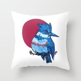 L'il Lard Butts Rising Sun Belted Kingfisher Throw Pillow