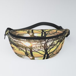 Tree Silhouette At Sunset Fanny Pack