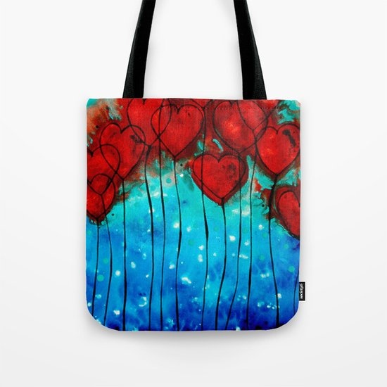 Hearts On Fire - Romantic Art By Sharon Cummings Tote Bag