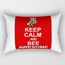 Keep calm and bee awesome Rectangular Pillow