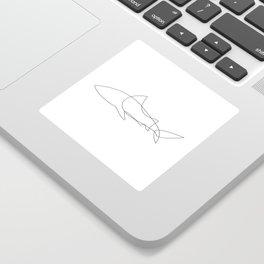 one line shark Sticker