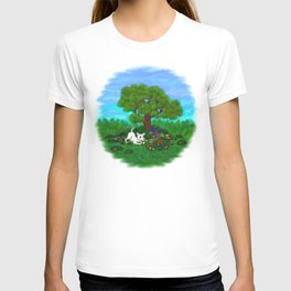 Easter - Spring-awakening - Puppy Capo and Butterfly T-shirt
