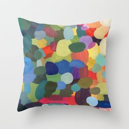 Painted abstract colourful pattern Throw Pillow
