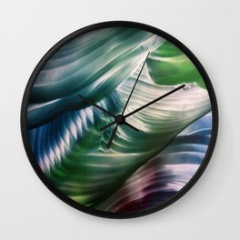 Green, Teal, Blue Abstract Wall Clock