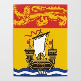 flag of New Brunswick 2 -Brunswicker,Néo-Brunswickois,moncton,fredericton,acadia,miramichi,john Poster