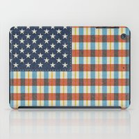 flag iPad Cases featuring Plaid Flag. by Nick Nelson