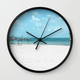 Turquoise Beach Wall Clock