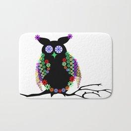 Owl eagle owl bird feather Bath Mat