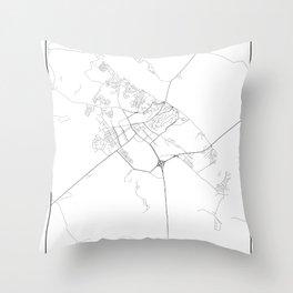 Minimal City Maps - Map Of Mozyr, Belarus. Throw Pillow