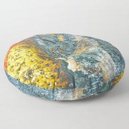 Colorful Abstract Texture Floor Pillow