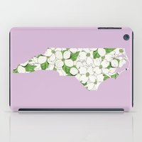 north carolina iPad Cases featuring North Carolina in Flowers by Ursula Rodgers