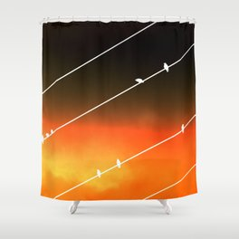 Grapevine Fires Shower Curtain