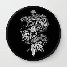 Snake & Dagger Wall Clock