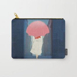 She Went Walking In The Rain Carry-All Pouch