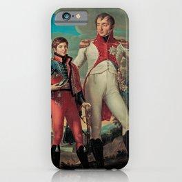 Jean-Baptiste Wicar - Luigi Bonaparte with his son Napoleone Luigi iPhone Case