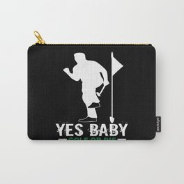 Golf Golfer Golf Club Golf Ball Carry-All Pouch