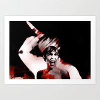 scream Art Prints featuring scream by KrisLeov