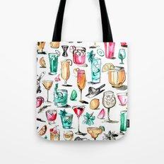Summer Cocktail Pattern - Original Colors Tote Bag