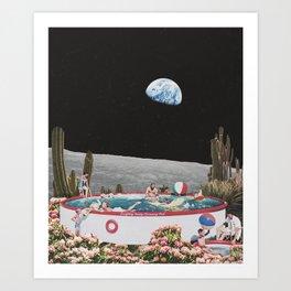 LUNAR DIP Art Print
