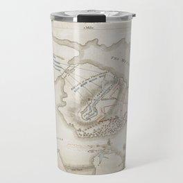 Vintage Battle of Bunker Hill Map (1775) Travel Mug