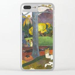 Mata Mua by Paul Gauguin Clear iPhone Case