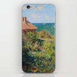 Fisherman's Cottage on the Cliffs at Varengeville Claude Monet iPhone Skin