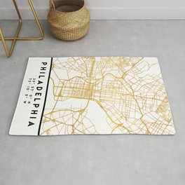 PHILADELPHIA PENNSYLVANIA CITY STREET MAP ART Rug