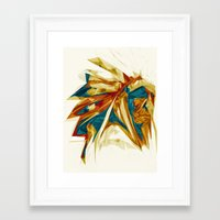 native american Framed Art Prints featuring Native American by Jo Tan