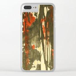 Rojo y negro Clear iPhone Case