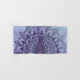 Doodle Peacock Purple Hand & Bath Towel