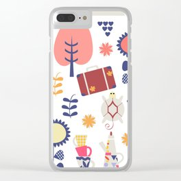 Trave patter 4gf Clear iPhone Case