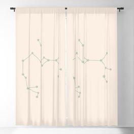 Sagittarius Zodiac Constellation Sage Blackout Curtain