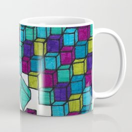Impossible falling bricks Coffee Mug
